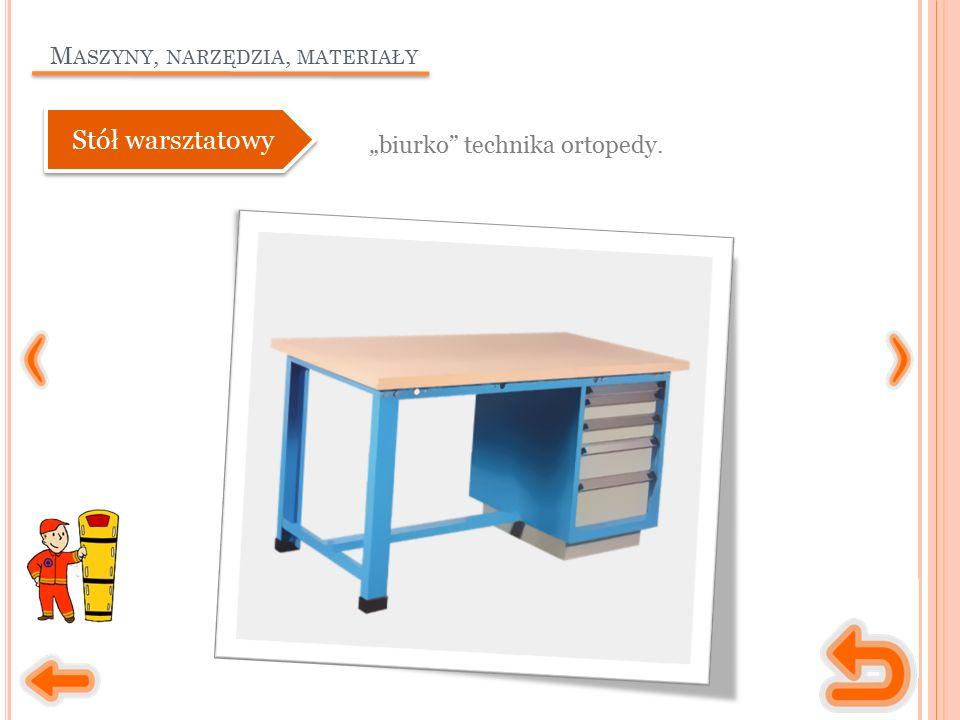 """M ASZYNY, NARZĘDZIA, MATERIAŁY """"biurko technika ortopedy. Stół warsztatowy"""