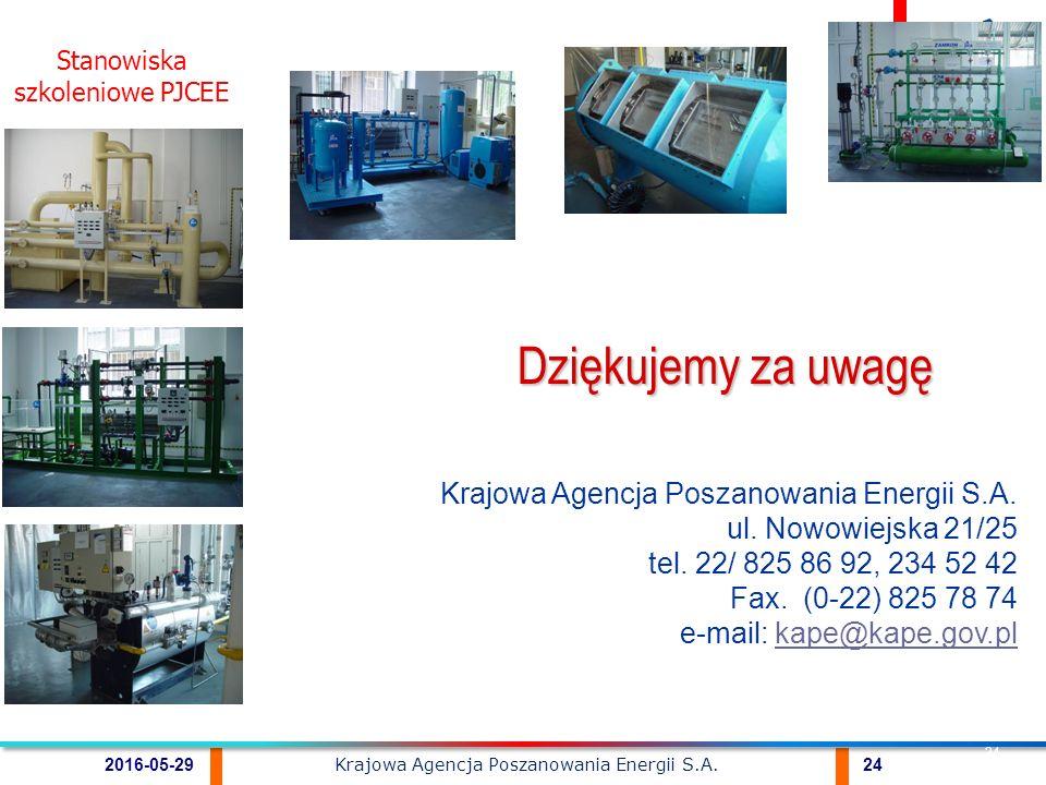 Krajowa Agencja Poszanowania Energii S.A. 242016-05-29 24 Krajowa Agencja Poszanowania Energii S.A.