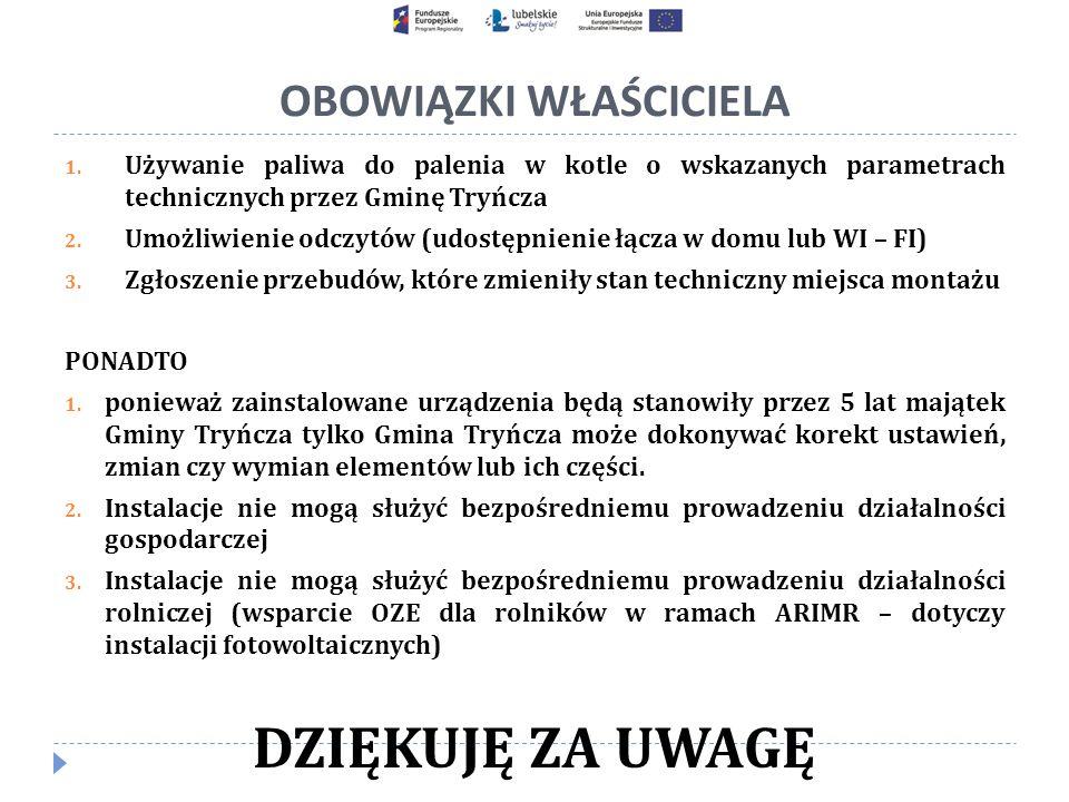 OBOWIĄZKI WŁAŚCICIELA 1.