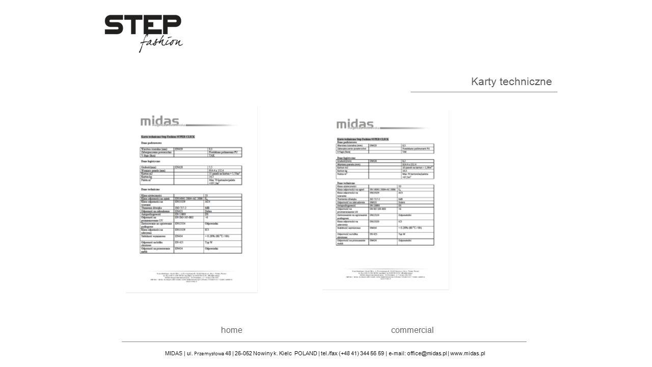 Karty techniczne MIDAS | u l. Przemysłowa 48 | 26-052 Nowiny k. Kielc POLAND | tel./fax (+48 41) 344 56 59 | e-mail: office@midas.pl | www.midas.pl co