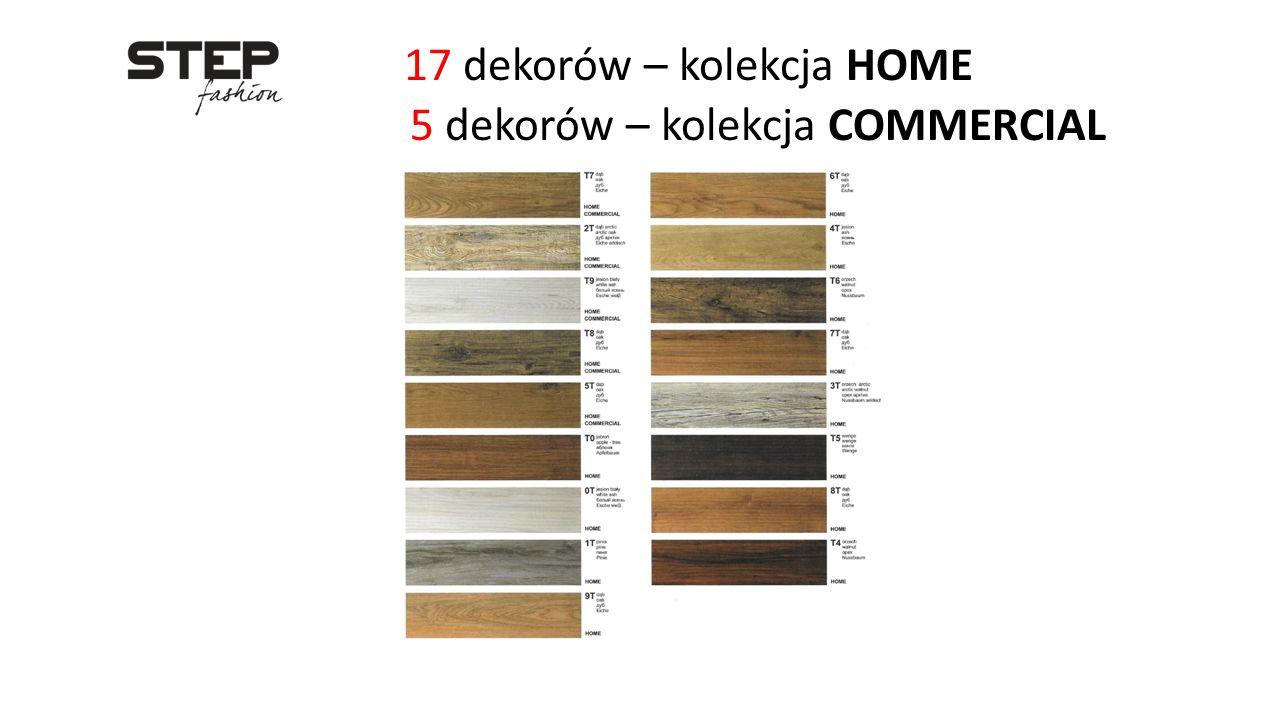 17 dekorów – kolekcja HOME 5 dekorów – kolekcja COMMERCIAL
