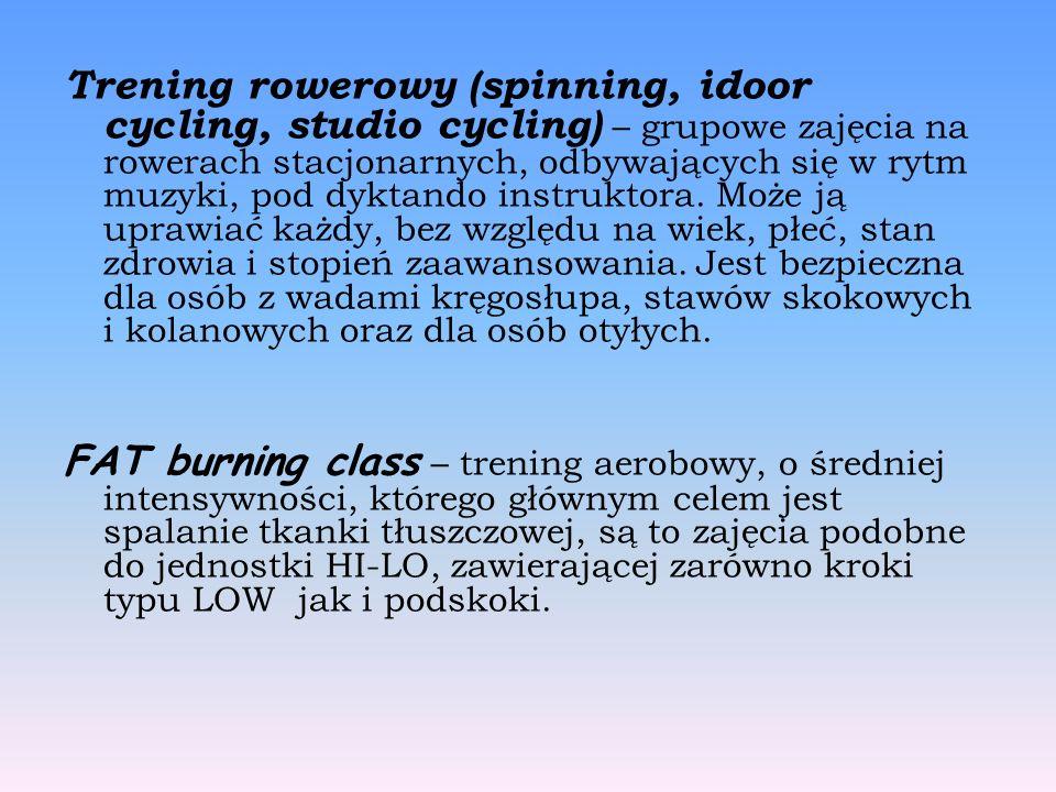 Trening rowerowy (spinning, idoor cycling, studio cycling) – grupowe zajęcia na rowerach stacjonarnych, odbywających się w rytm muzyki, pod dyktando instruktora.
