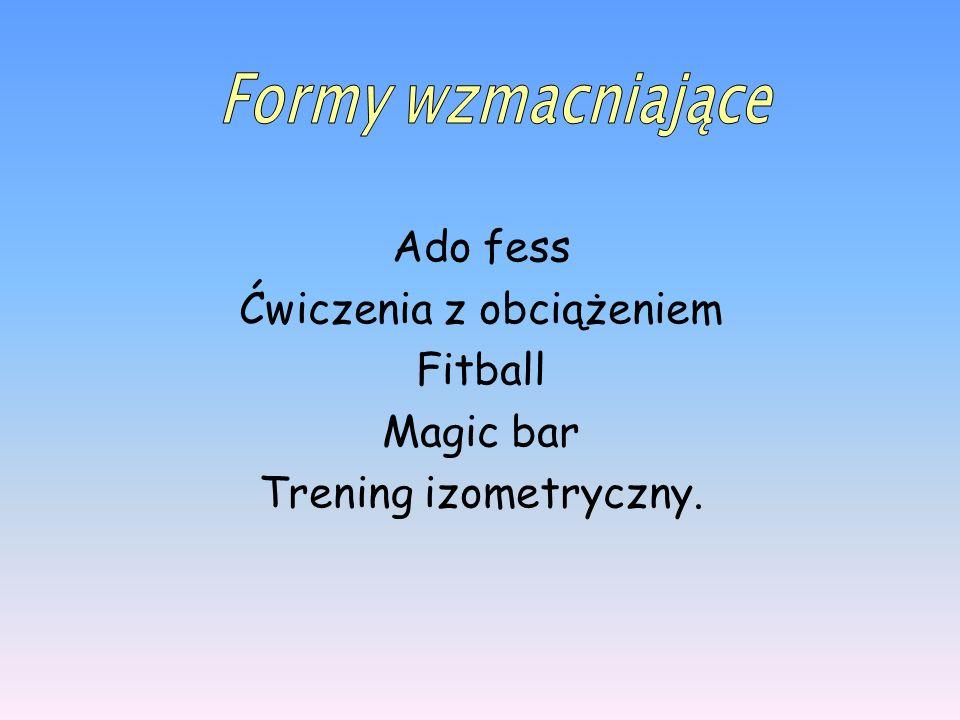 Ado fess Ćwiczenia z obciążeniem Fitball Magic bar Trening izometryczny.