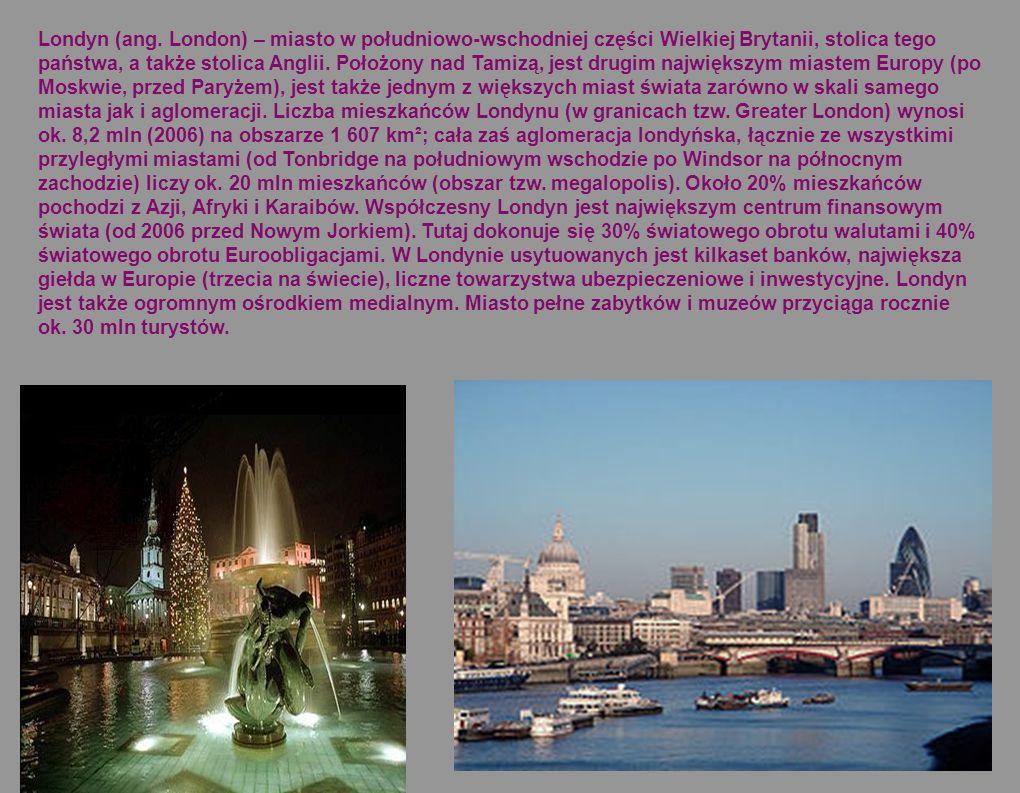 Londyn to niesamowite miejsce, zafascynował mnie kilkanaście lat temu i ta fascynacja trwa do dziś. Kolejne slajdy poświęcone są właśnie temu wspaniał