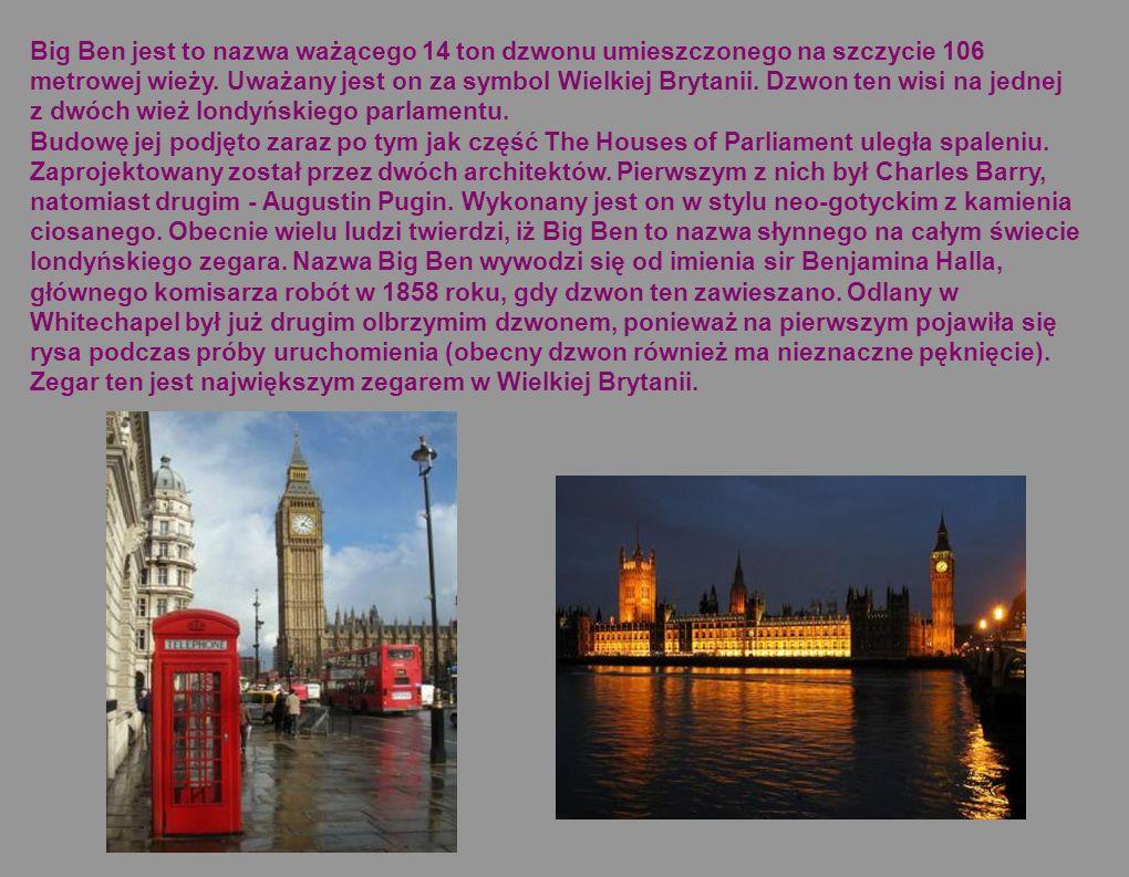 Tower of London, oficjalna nazwa Her Majesty s Palace and Fortress, The Tower of London czyli Pałac i Twierdza Jej Królewskiej Mości jest budowlą obronną i pałacową monarchów Anglii.