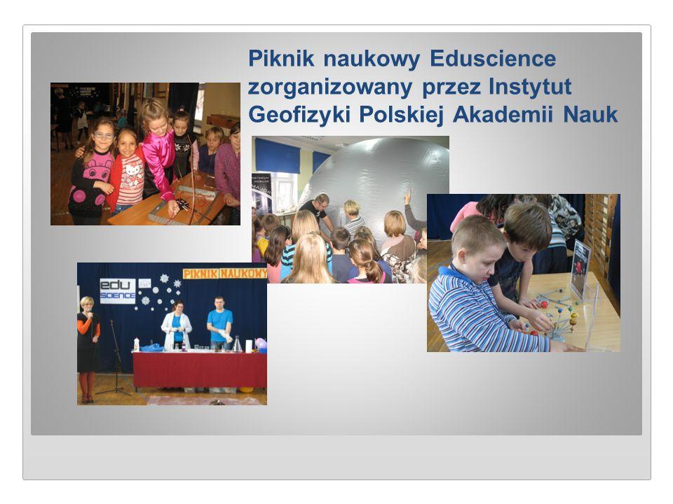 Piknik naukowy Eduscience zorganizowany przez Instytut Geofizyki Polskiej Akademii Nauk