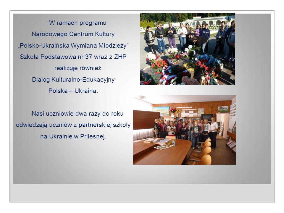 """W ramach programu Narodowego Centrum Kultury """"Polsko-Ukraińska Wymiana Młodzieży"""" Szkoła Podstawowa nr 37 wraz z ZHP realizuje również Dialog Kultural"""