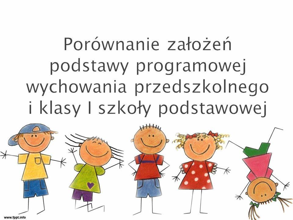 Dziecko kończące przedszkole i rozpoczynające naukę w szkole podstawowej: 1) przejawia, w miarę swoich możliwości, zainteresowanie wybranymi zabytkami i dziełami sztuki oraz tradycjami i obrzędami ludowymi ze swojego regionu; 2) umie wypowiadać się w różnych technikach plastycznych i przy użyciu elementarnych środków wyrazu (takich jak kształt i barwa) w postaci prostych kompozycji i form konstrukcyjnych; 3) wykazuje zainteresowanie malarstwem, rzeźbą i architekturą (także architekturą zieleni i architekturą wnętrz).