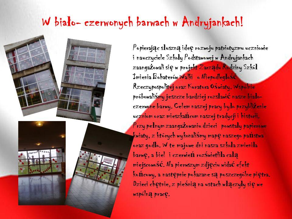 W bia ł o- czerwonych barwach w Andryjankach.
