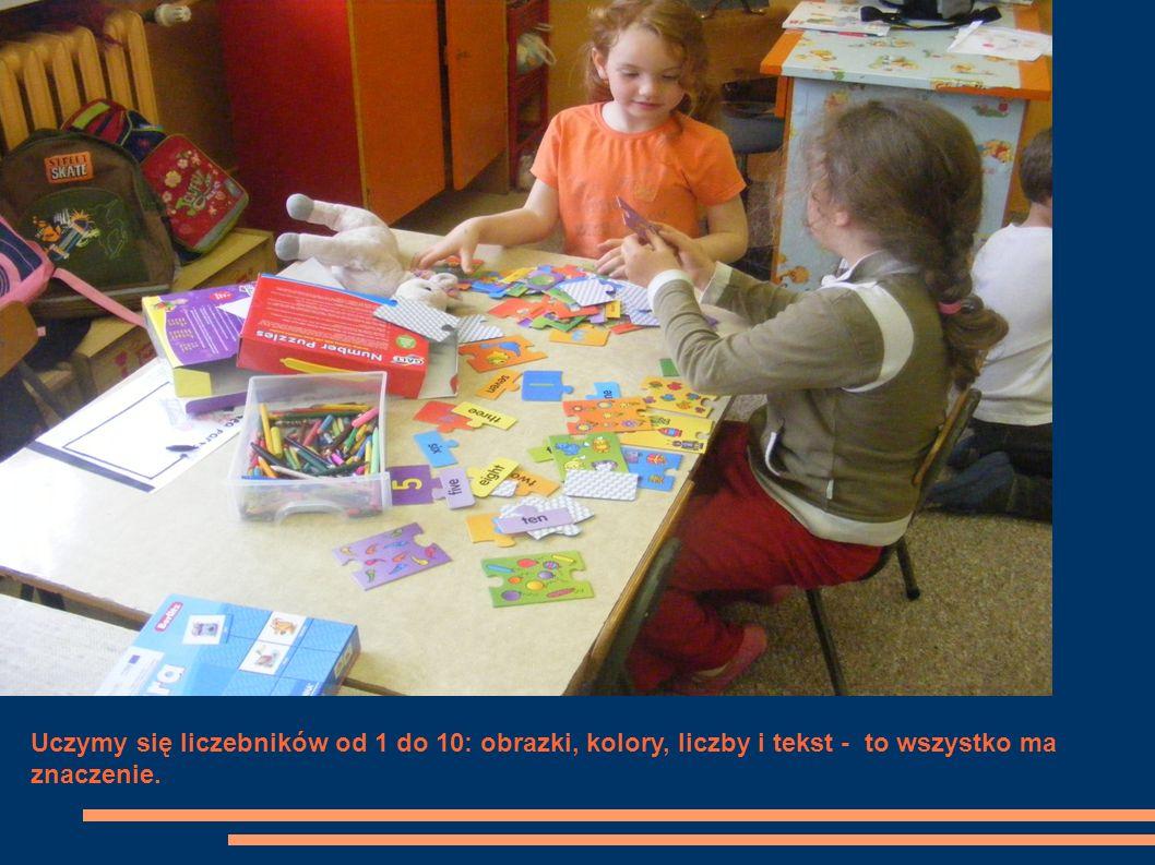 Uczymy się liczebników od 1 do 10: obrazki, kolory, liczby i tekst - to wszystko ma znaczenie.