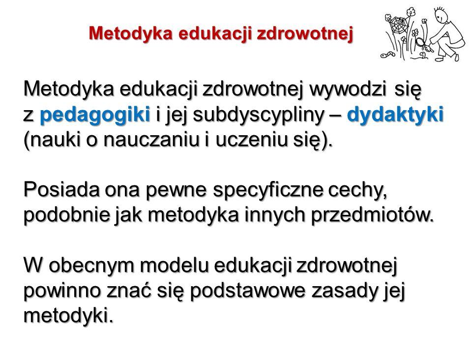 Metodyka edukacji zdrowotnej wywodzi się z pedagogiki i jej subdyscypliny – dydaktyki (nauki o nauczaniu i uczeniu się).