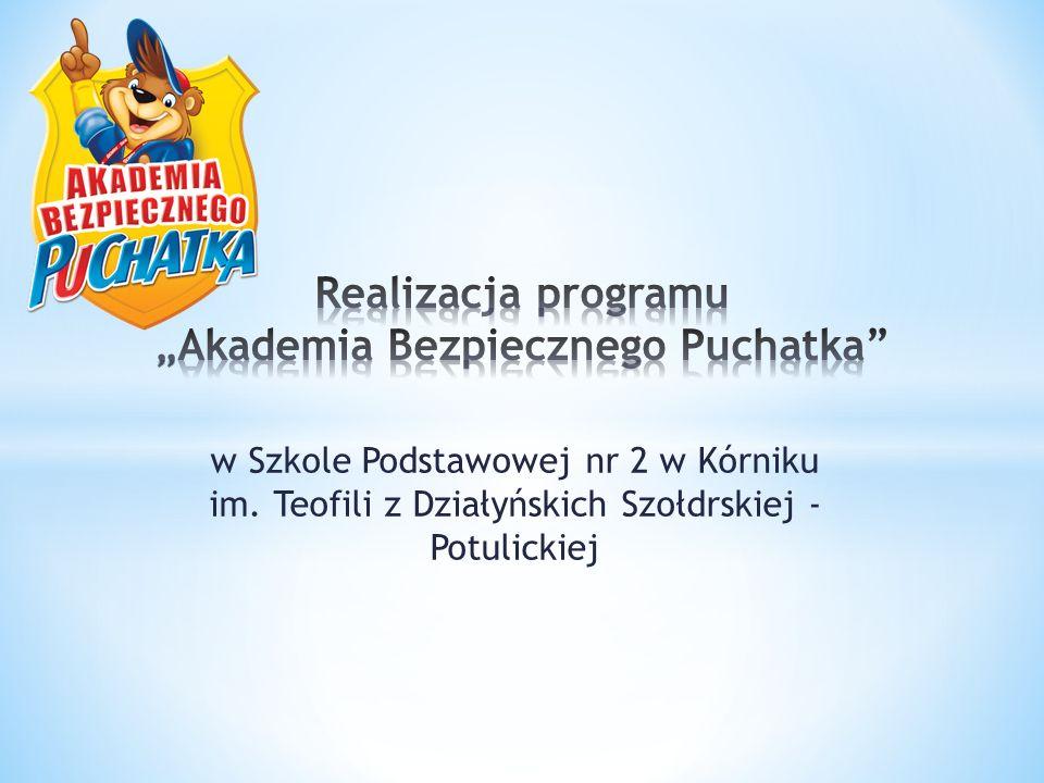 w Szkole Podstawowej nr 2 w Kórniku im. Teofili z Działyńskich Szołdrskiej - Potulickiej