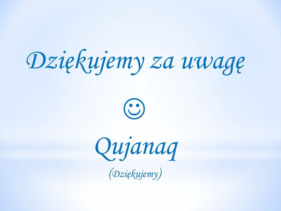 Dziękujemy za uwagę Qujanaq ( Dziękujemy )