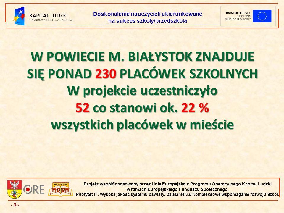 - 24 - Projekt współfinansowany przez Unię Europejską z Programu Operacyjnego Kapitał Ludzki w ramach Europejskiego Funduszu Społecznego, Priorytet III.