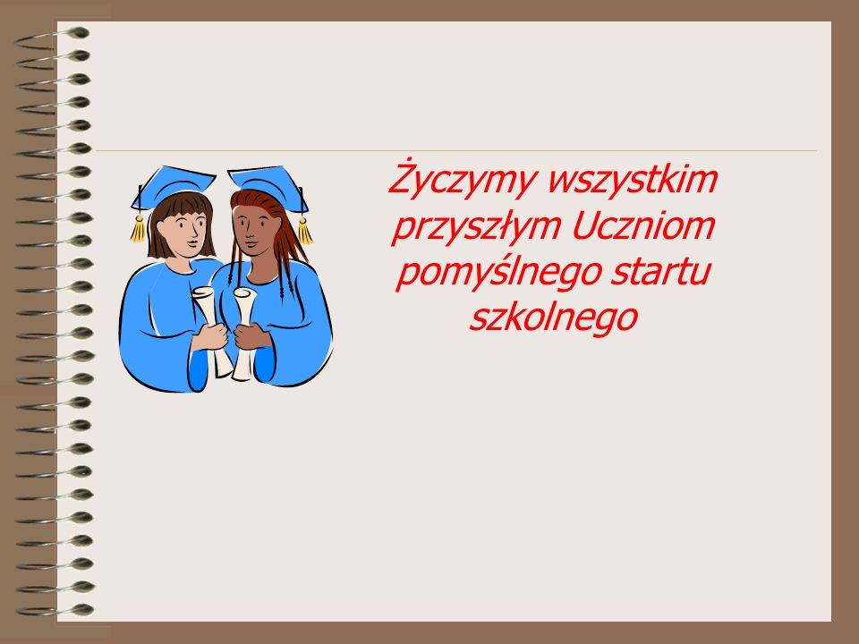 Życzymy wszystkim przyszłym Uczniom pomyślnego startu szkolnego
