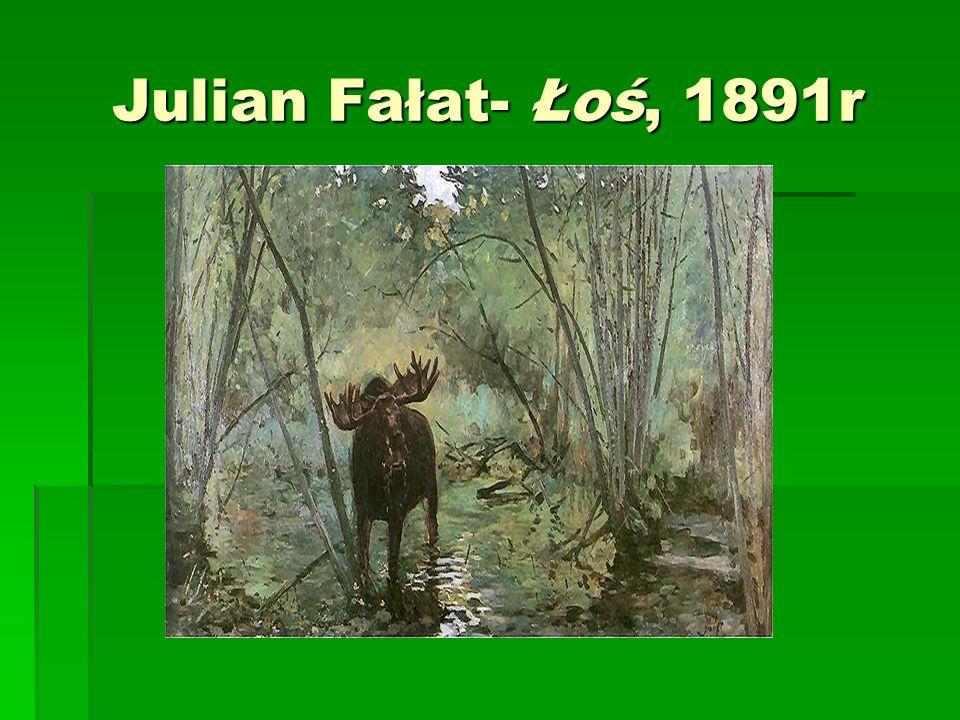 Julian Fałat- Łoś, 1891r