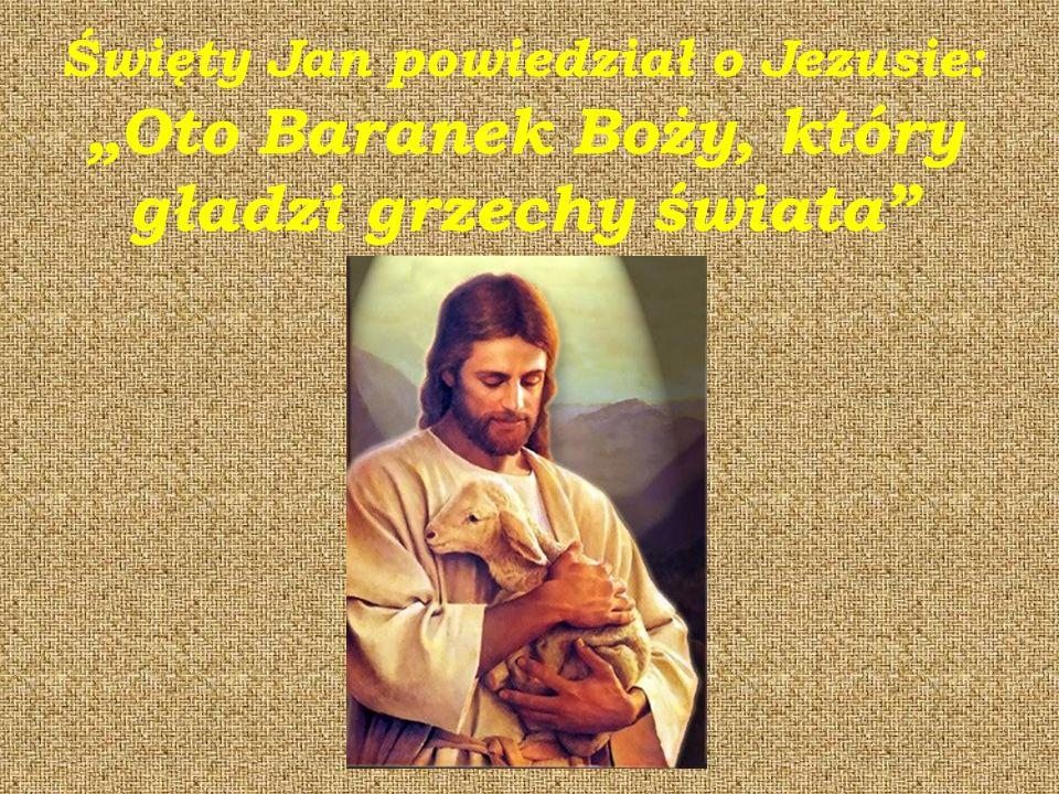 """Święty Jan powiedział o Jezusie: """"Oto Baranek Boży, który gładzi grzechy świata"""