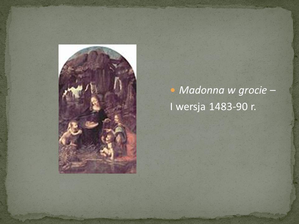 Madonna w grocie – I wersja 1483-90 r.