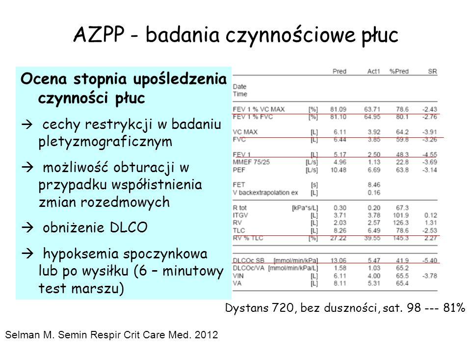 AZPP - badania czynnościowe płuc Ocena stopnia upośledzenia czynności płuc  cechy restrykcji w badaniu pletyzmograficznym  możliwość obturacji w prz