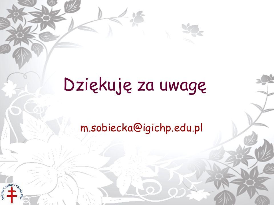 Dziękuję za uwagę m.sobiecka@igichp.edu.pl