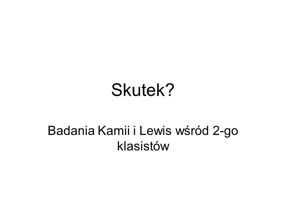 Skutek Badania Kamii i Lewis wśród 2-go klasistów