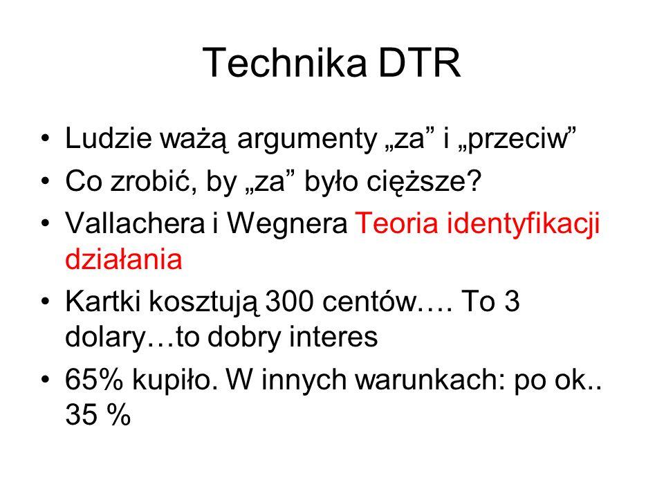 """Technika DTR Ludzie ważą argumenty """"za i """"przeciw Co zrobić, by """"za było cięższe."""