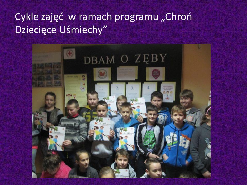 """Cykle zajęć w ramach programu """"Chroń Dziecięce Uśmiechy"""