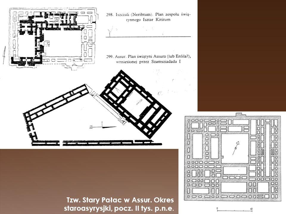Tzw. Stary Pałac w Assur. Okres staroasyrysjki, pocz. II tys. p.n.e.