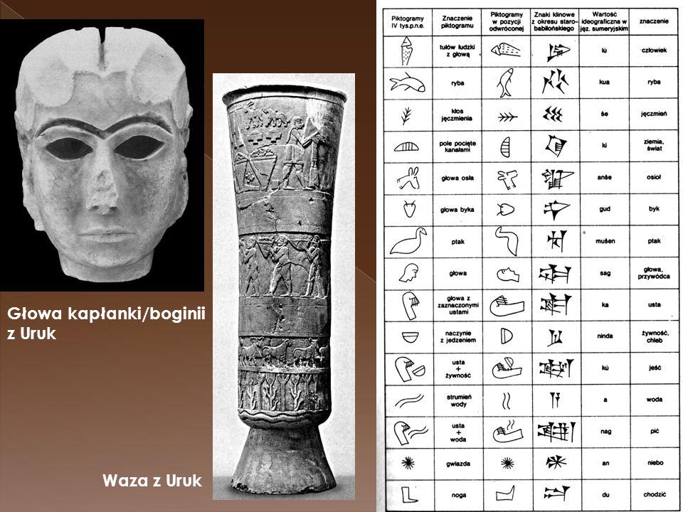 Waza z Uruk Głowa kapłanki/boginii z Uruk