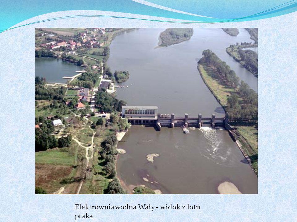 Elektrownia wodna Wały - widok z lotu ptaka