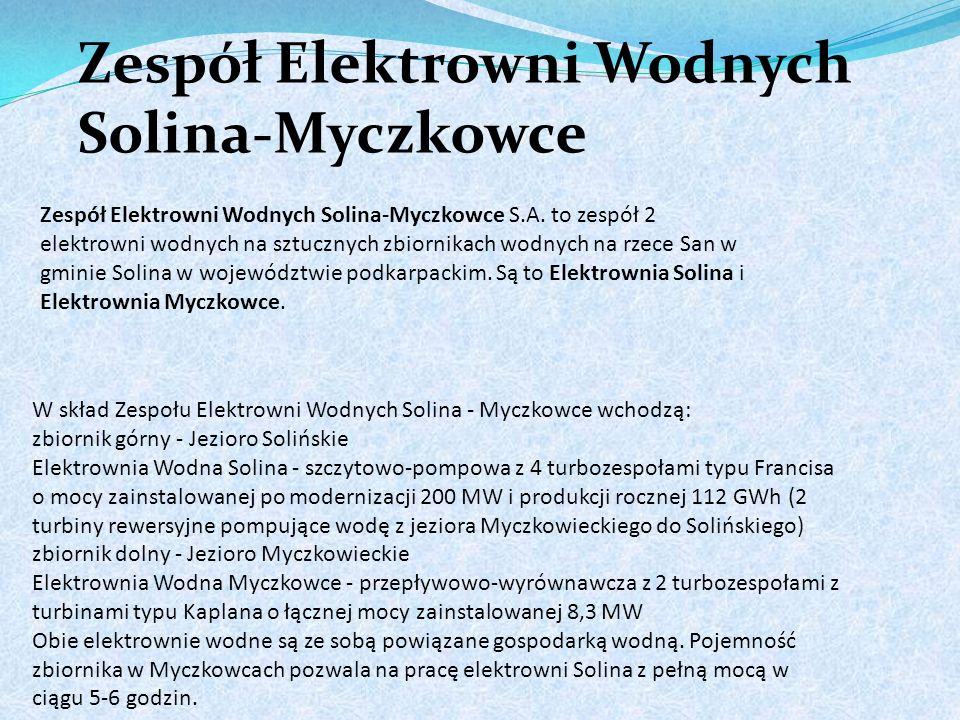 Zespół Elektrowni Wodnych Solina-Myczkowce Zespół Elektrowni Wodnych Solina-Myczkowce S.A.