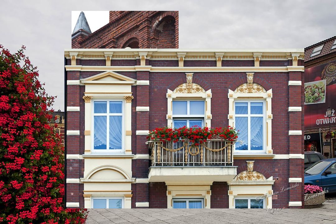 Kiedyś fabryka wyrobów tytoniowych, w okresie PRL-u fabryka obuwia obecnie budynek Starostwa Powiatowego Most Chojnicki – miejsce zbiórki chłopskich powstańców Floriana Ceynowy w 1846 r.