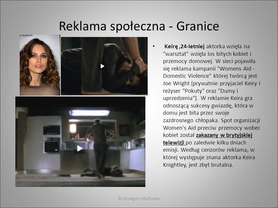 Reklama społeczna - Granice Keirę,24-letniej aktorka wzięła na warsztat wzięła los bitych kobiet i przemocy domowej.