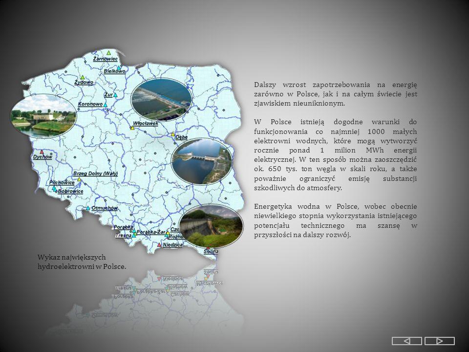 Źródła: - Lenartowicz B., Wilczyńska E., Wójcik M., Energetyka wodna [w:] Geografia na czasie, Wyd.