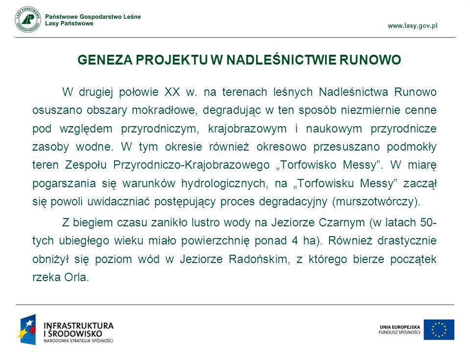 www.ckps.lasy.gov.pl www.lasy.gov.pl GENEZA PROJEKTU W NADLEŚNICTWIE RUNOWO W drugiej połowie XX w.