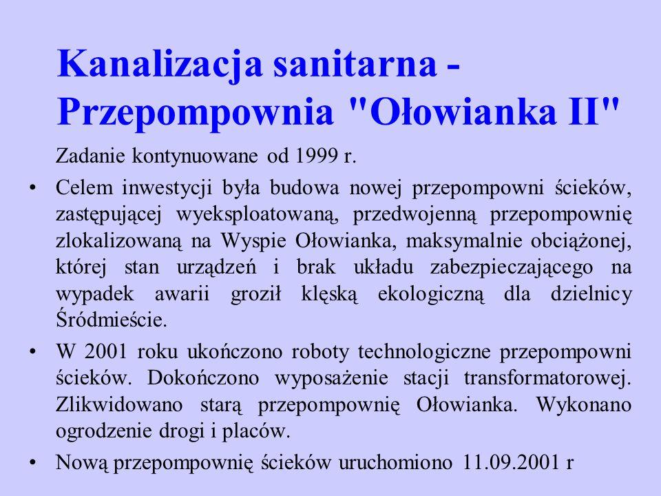 Kanalizacja sanitarna - Przepompownia