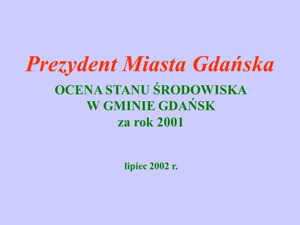 Porównanie wielkości odpływu i ładunków zanieczyszczeń odprowadzonych z Gminy Gdańsk i wnoszonych przez Wisłę w latach od 1995 do 2001 r.