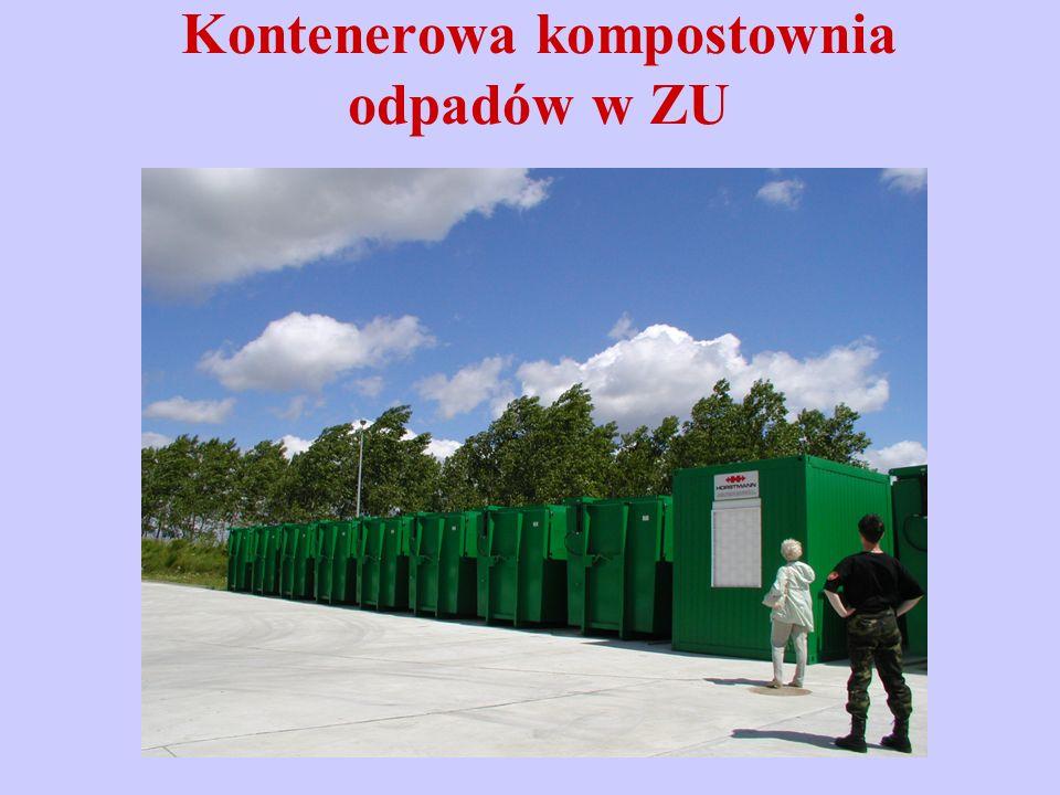 Kontenerowa kompostownia odpadów w ZU