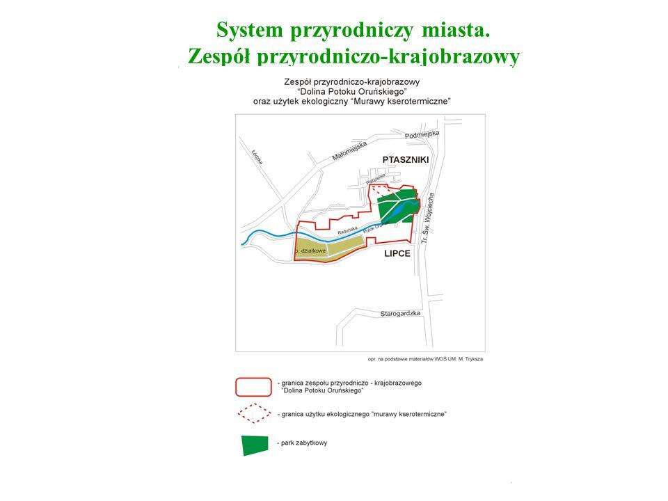 System przyrodniczy miasta. Zespół przyrodniczo-krajobrazowy mapa nr 10