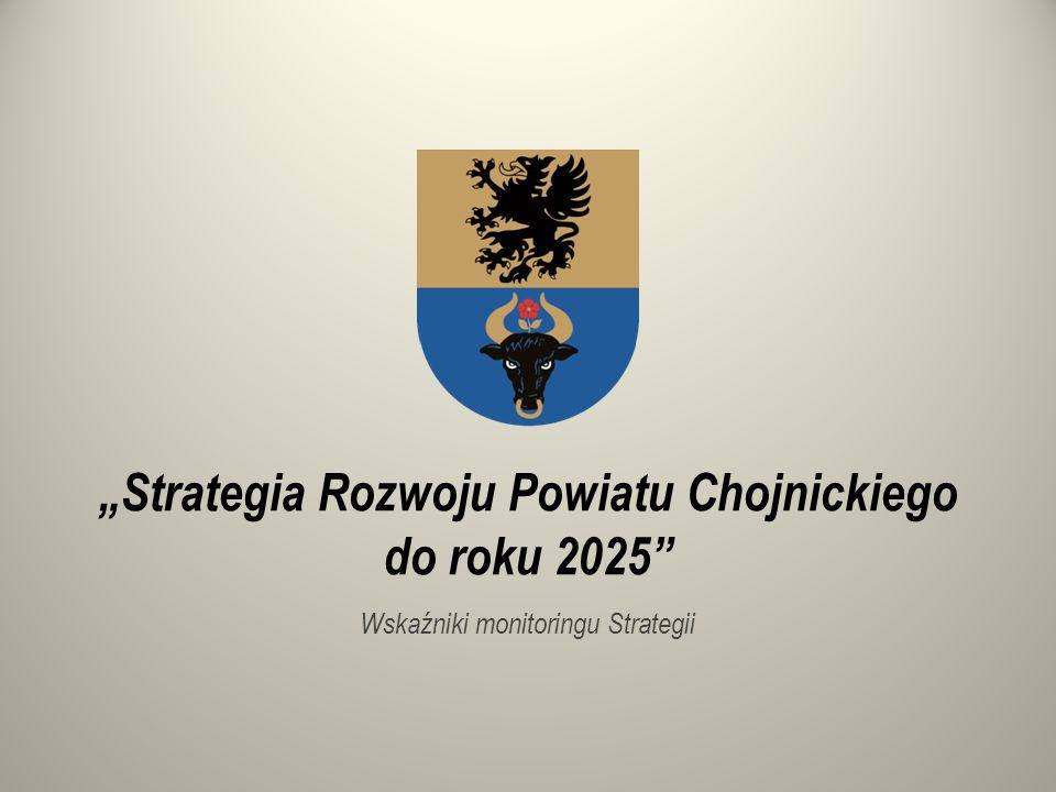 """""""Strategia Rozwoju Powiatu Chojnickiego do roku 2025 Wskaźniki monitoringu Strategii"""