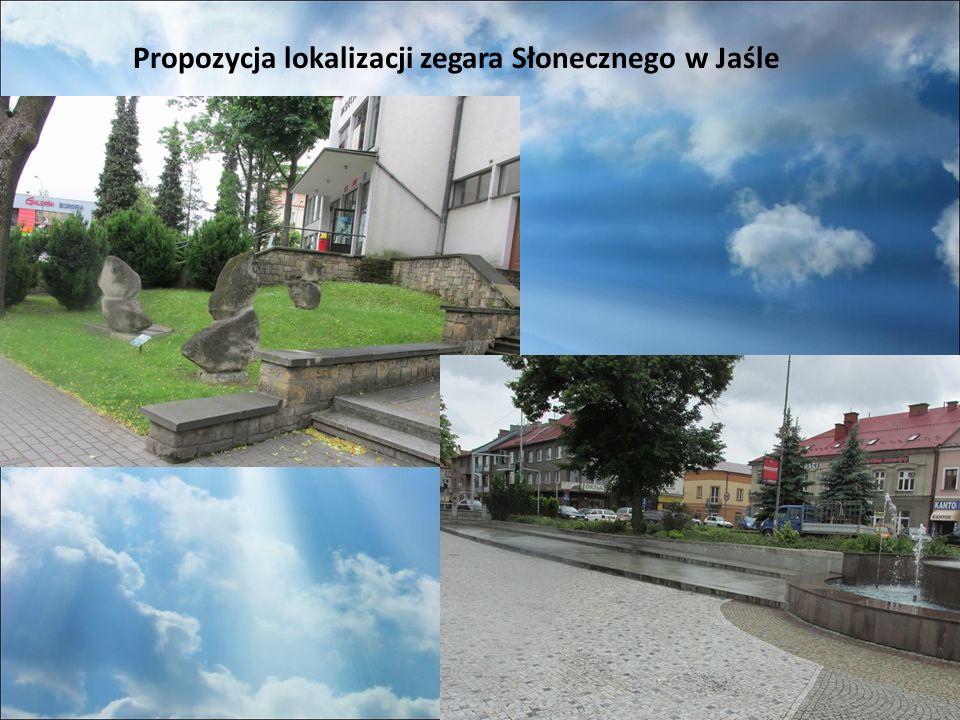 Propozycja lokalizacji zegara Słonecznego w Jaśle