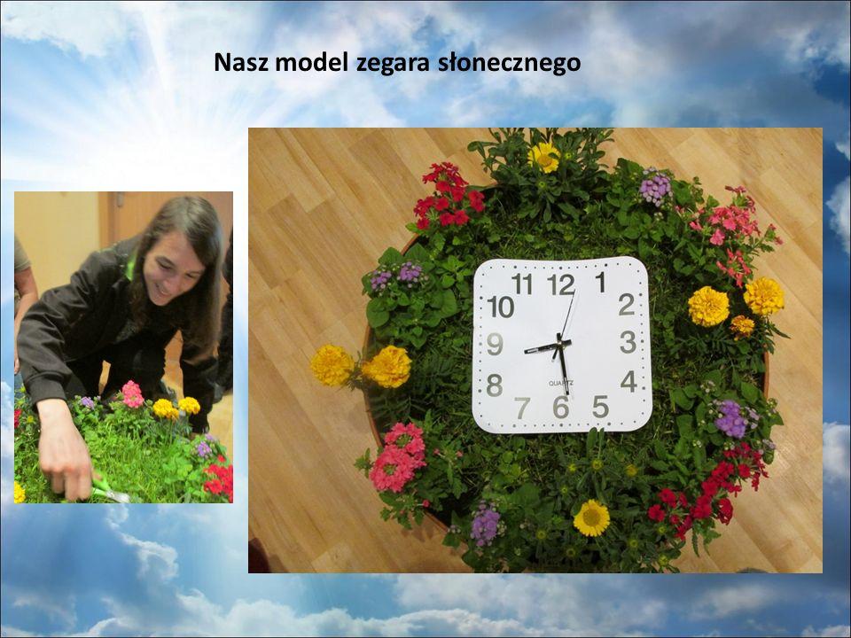 Nasz model zegara słonecznego