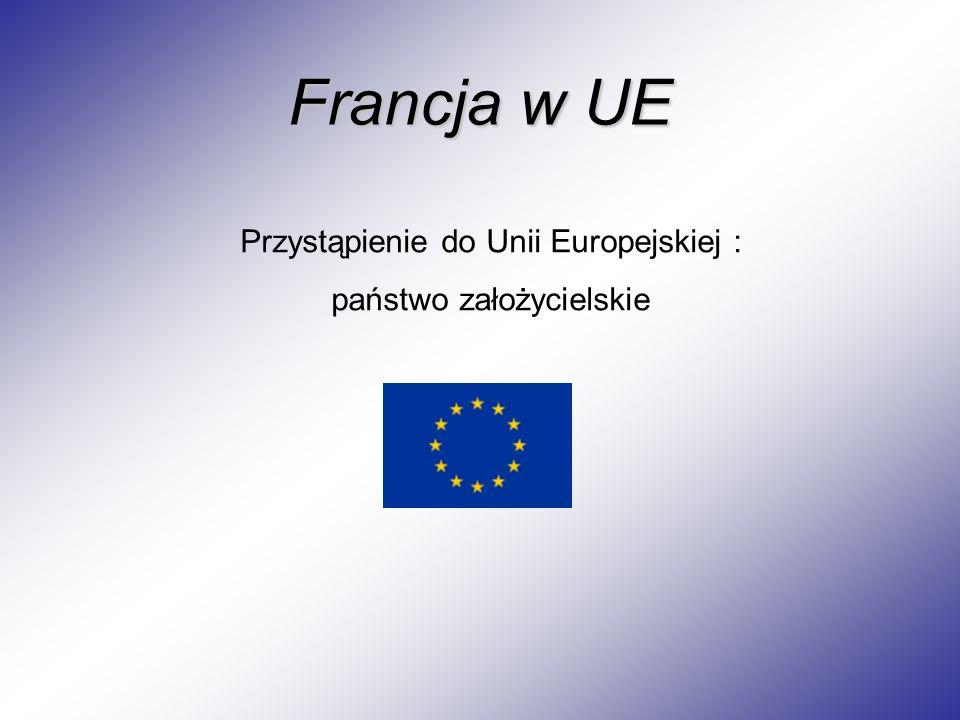 Francja w UE Przystąpienie do Unii Europejskiej : państwo założycielskie