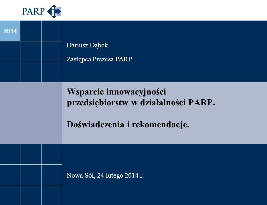 2014 Wsparcie innowacyjności przedsiębiorstw w działalności PARP.