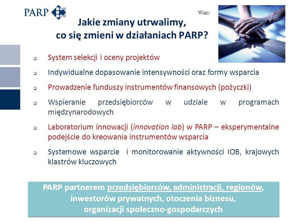 Warszawa, 24 lutego 2014 r. Jakie zmiany utrwalimy, co się zmieni w działaniach PARP.