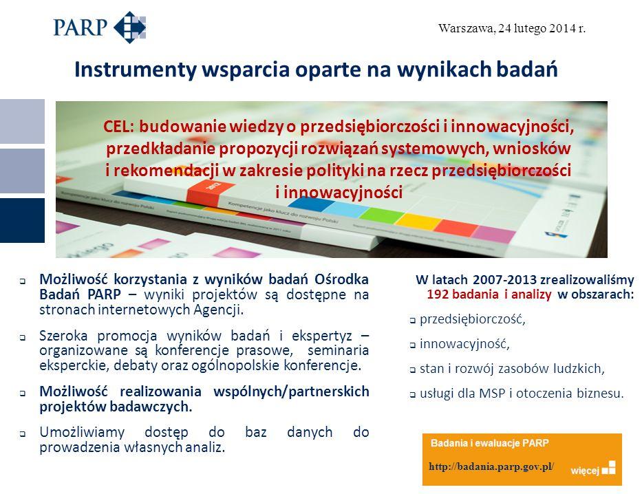 Warszawa, 24 lutego 2014 r.Efekty wsparcia inwestycyjnego na przykładzie działania 4.4.