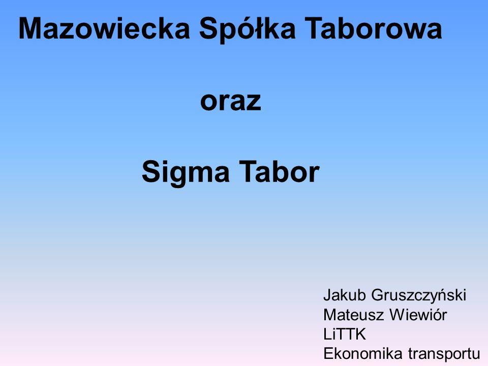 Mazowiecka Spółka Taborowa oraz Sigma Tabor Jakub Gruszczyński Mateusz Wiewiór LiTTK Ekonomika transportu