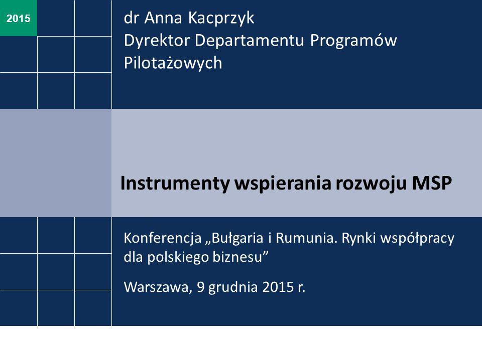 """2015 Instrumenty wspierania rozwoju MSP Konferencja """"Bułgaria i Rumunia."""