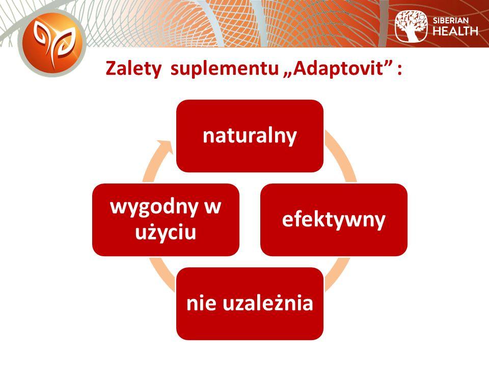 """Zalety suplementu """"Adaptovit : naturalnyefektywnynie uzależnia wygodny w użyciu"""