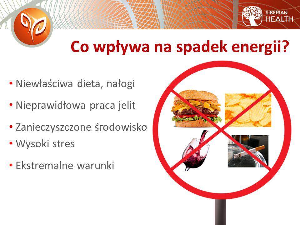 Co wpływa na spadek energii.